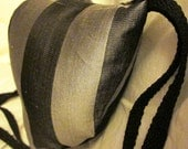 Renaissance Padded Black and Silver Striped Codpiece with Ties