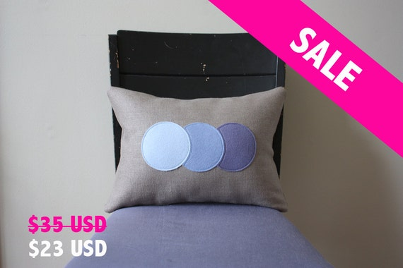 Ombre Trio Pillow - Periwinkle