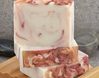 Unscented Pink Champagne Handcrafted Cold Process Soap Bar