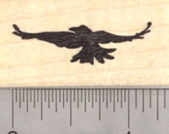 Crow in Flight Rubber Stamp, Silhouette  B22515 - WM