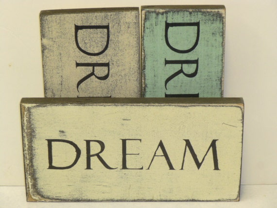 Dream Wood Wall Decor : Dream wall sign wood by sophiescottage