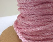 3 Metres 4mm Pale Pink Lacing Cord