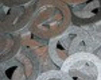 Aluminum Washers - 18 gauge, Stamping Blanks, Metal Blanks, hypo-allergenic, food safe