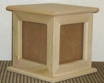 LARGE Poplar Wood Photo Cube