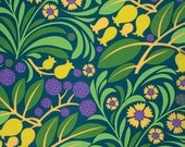 Jane Sassaman Blossoms and Berrys Citrus Gregorys Garden Fabric 1 yard