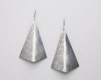 Textured Shield Earrings