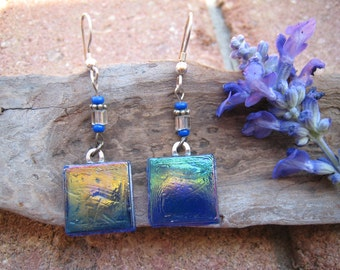 RECYCLED glass earrings ... Kitchen Backsplash Tiles ... UNIQUE