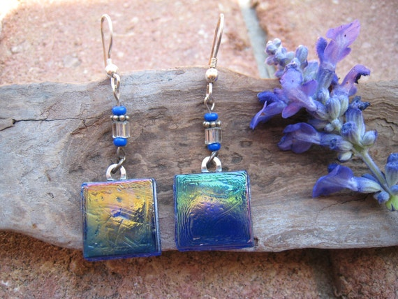 recycled glass earrings kitchen backsplash tiles unique