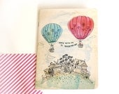 Touch The Sky 32 blank recycled pg notebook