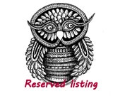 Reserved listing Mr Owl Clay Tile relief by Tanya Besedina