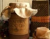 Grubby Rustic Primitive Cinnamon Cupboard Jar Kitchen Collectible ,ofg team