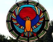 Horus - The God of Kings in Ancient Egypt Stained Glass Panel