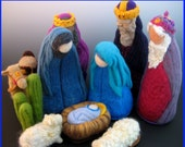 3 piece Large Heirloom Needle Felted Nativity Set - LAST ONE for 2014 Season