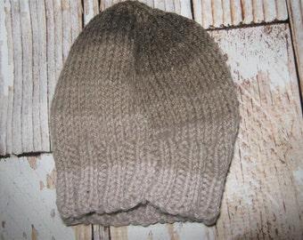 Hand knit one size fits many acrylic blend  striped