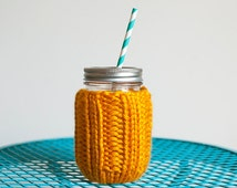 Mason Jar Cozy + Regular Mouth + Small + You Choose the Color