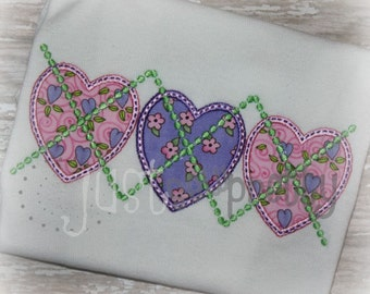 Argyle Hearts Matching Doll/Mommy Applique Design