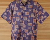 Vintage Reyn Spooner Hawaiian Aloha Shirt Size L XL ch 50