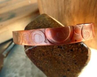 Copper Circles Cuff
