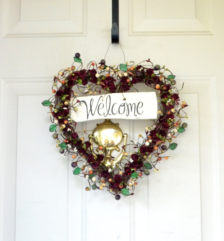 welcome christmas wreath on - photo #41