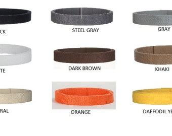 """COLOR CARD SWATCHES for 1"""" Cotton Webbing"""