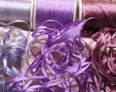 2mm silk ribbon lilac combo pack 25 yards