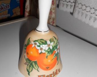 Vintage Porcelain Dinner Bell Says Florida has Oranges on front