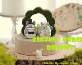 totoro cake topper---Custom Order Deposit for the lovely Wedding Cake Topper (K113)