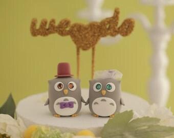 Owls wedding cake topper (K506)