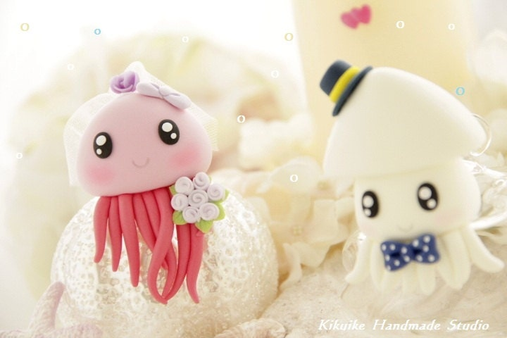 Jellyfish Wedding Cake Topper