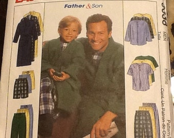 McCalls 9638 Pajama and Robe Sewing Pattern for Boys and Men