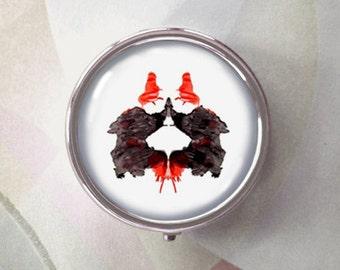 Inkblot Me - psychoanalysis pill box - single or triple compartment