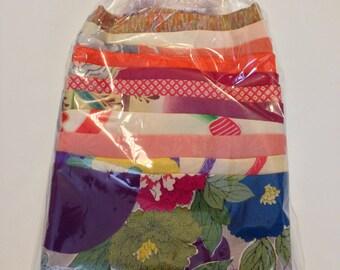 Vintage Kimono Fabrics: 22 Piece Set