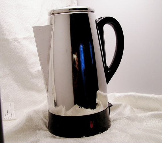 West Bend Coffee Maker Percolator : Vintage Percolator Coffee Pot by West Bend