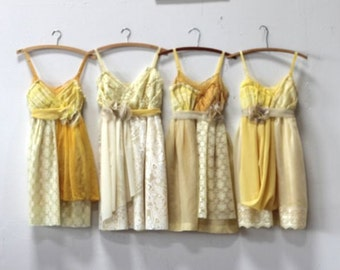 Custom Yellow Bridesmaids Dresses