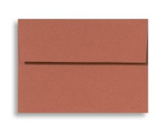 Cinnamon Stick Envelopes - Set of 25 A7 Terracotta Brown Envelopes - Perfect for 5x7 Photos or Cards