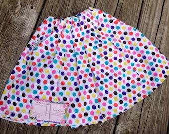 Baby skirt, polka dot skirt, childrens skirt, toddler skirt, infant skirt, girls skirt, newborn skirt, skirt, 6 month skirt, 12 month skirt
