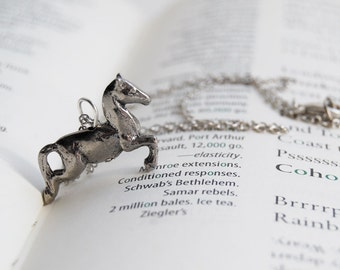 Galloping Horse Necklace | Cute Jumping Pony Pendant Necklace