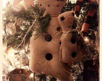 Primitive Snowman Dolls