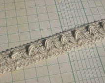 Natural Braid Trim - Linen Woven Cable Pattern - Sewing Trim - 11/16""