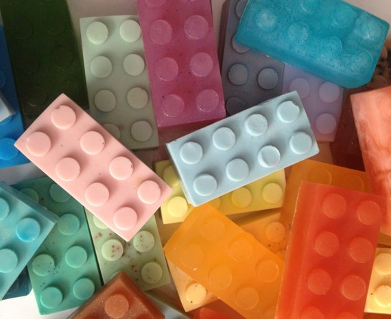 Sale Building Block Soap Favors In Random Colors By