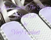 Mixed Set of 10 - You Choose The Fabrics - Purple