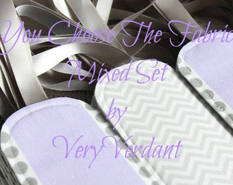 Mixed Set of 10 - You Choose The Fabrics - Purple