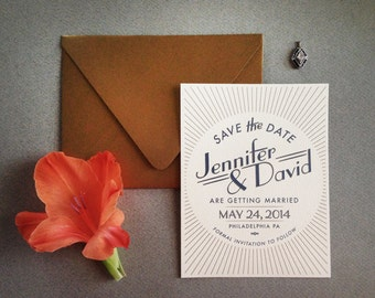The Great Gatsby Art Deco Save the Date