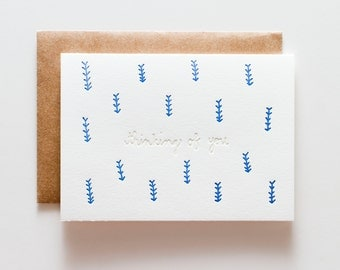 Grass Thinking of You - Letterpress Sympathy Card - CS161