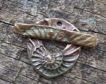 Bronze Ammonite Toggle