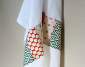 Christmas Tea Towel - Modern Patchwork