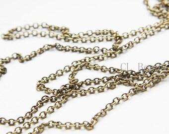 3 Feet Oxidized Brass Chains-Oval 3x2.5mm (260SB)
