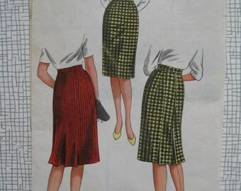 "1960s Skirt - 29"" Waist - Style Print 1327 Sewing Pattern"