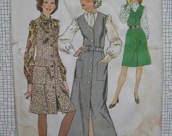 "1972 Jumper Dress & Blouse - 38"" Bust - Simplicity 5249 Sewing Pattern"