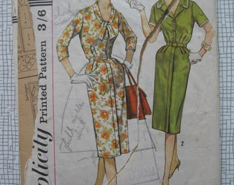 "1950s Slenderette Dress - 34"" Bust - Simplicity 3272 sewing Pattern"